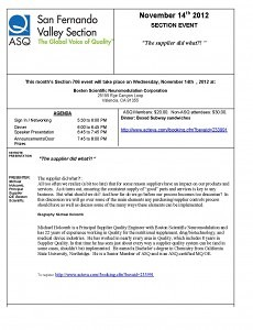 Section Meeting Flyer 11-14-12