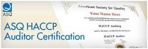 ASQ Certified HACCP