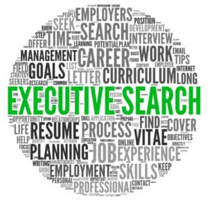 Executive Search word cloud