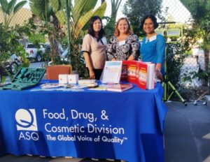ASQ booth was stationed by Connie Chan, Mary Thorsness and Sumita Som at the 2016 joint networking event with PDA
