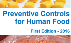 FSMA Training cover from FSPCA for Preventive Controls for Human Foods