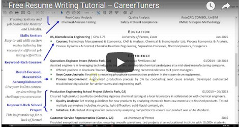 Video tips on writing a resume for pharma
